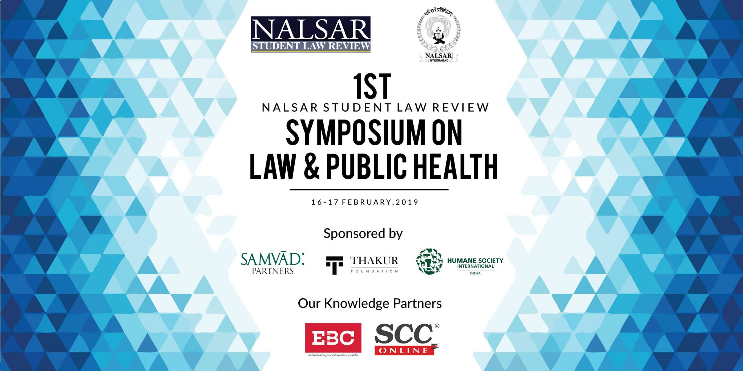 Poster for NSLR Symposium on Law and Public Health, 2019